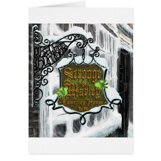 Scrooge&MarleySignScene Card