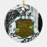 Scrooge&MarleySignScene Ceramic Ornament