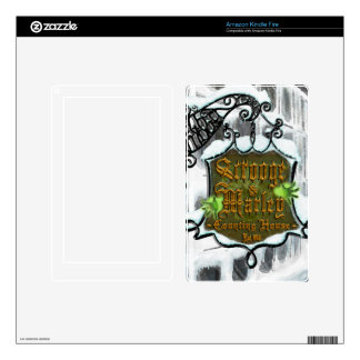 Scrooge&MarleySignScene  ereader & tablet skin Decals For Kindle Fire