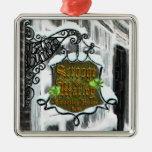 Scrooge&MarleySignScene Metal Ornament