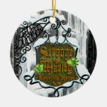 Scrooge&MarleySignScene Double-Sided Ceramic Round Christmas Ornament