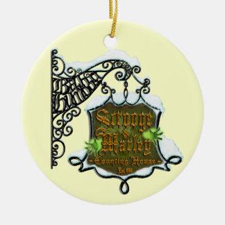 Scrooge&MarleySignScene Christmas Tree Ornament