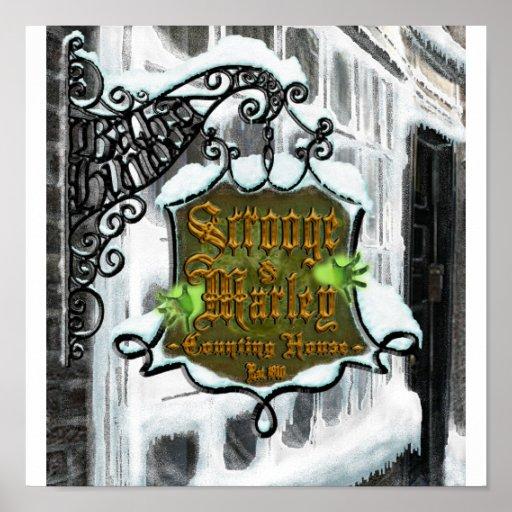 Scrooge&MarleySignScene Poster