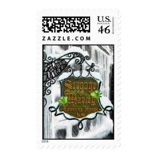 Scrooge MarleySignScene Postage Stamps