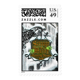 Scrooge&MarleySignScene Postage Stamps