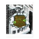 Scrooge&MarleySignScene Postcard