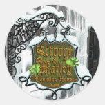 Scrooge&MarleySignScene Round Sticker