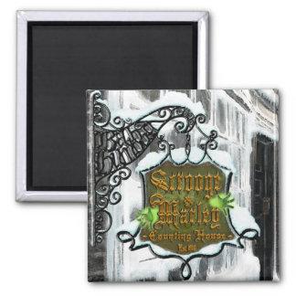 Scrooge&MarleySignScene  square magnet