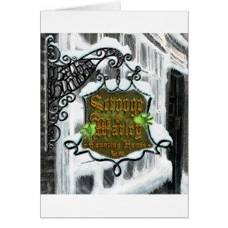 Scrooge&MarleySignScene Tarjeta De Felicitación