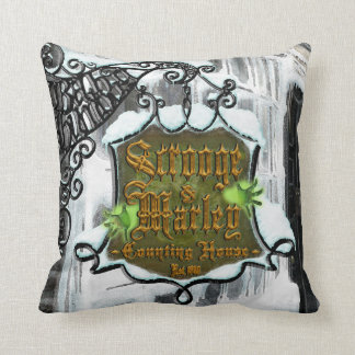 Scrooge&MarleySignScene Throw Pillow