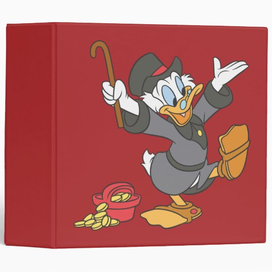 Scrooge McDuck 3 Ring Binder