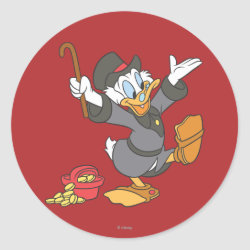 Round Sticker with Carl Barks' Scrooge McDuck design
