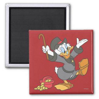 Scrooge McDuck Imán Cuadrado