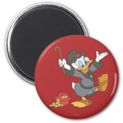 Round Magnet with Carl Barks' Scrooge McDuck design
