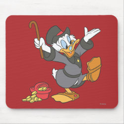 Mousepad with Carl Barks' Scrooge McDuck design