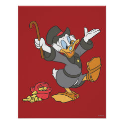 Matte Poster with Carl Barks' Scrooge McDuck design