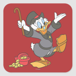 Square Sticker with Carl Barks' Scrooge McDuck design