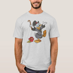 Men's Basic T-Shirt with Carl Barks' Scrooge McDuck design