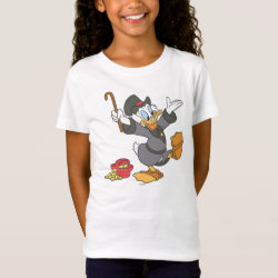 Girls' Fine Jersey T-Shirt with Carl Barks' Scrooge McDuck design
