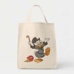 Grocery Tote with Carl Barks' Scrooge McDuck design