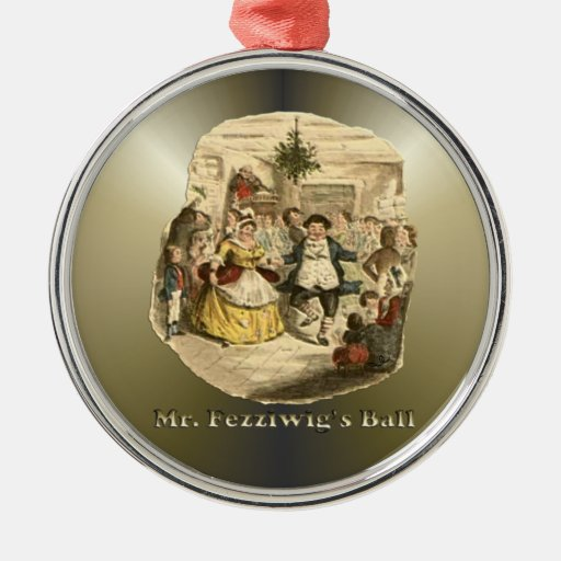 Scrooge of Christmas - A Christmas Carol Round Metal Christmas Ornament