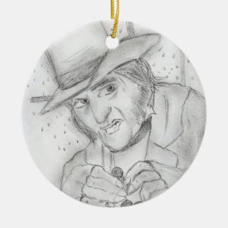 Scrooge Double-Sided Ceramic Round Christmas Ornament