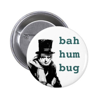 scrooge, pinback button