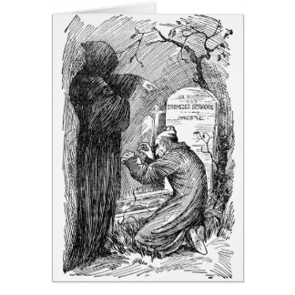 Scrooge s Grave Greeting Card