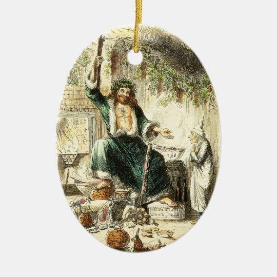 Scrooge & Spirit of Christmas Present - Ornament