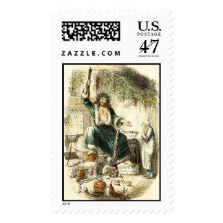 Scrooge & Spirit of Christmas Present - Postage