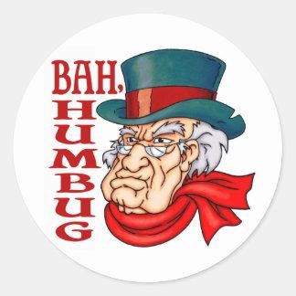 Scrooge viejo malo pegatinas redondas