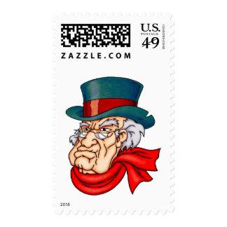 Scrooge viejo malo sello
