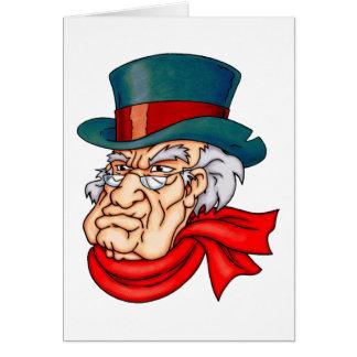 Scrooge viejo malo tarjeta de felicitación