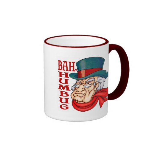 Scrooge viejo malo tazas de café