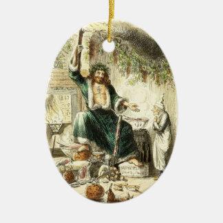 Scrooge y alcohol del regalo de Navidad - Adorno Ovalado De Cerámica