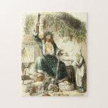 Scrooge y alcohol del regalo de Navidad - rompecab Rompecabeza Con Fotos
