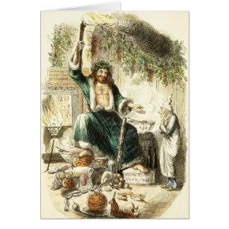 Scrooge y alcohol del regalo de Navidad - saludo d