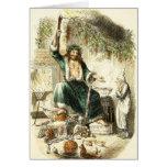 Scrooge y alcohol del regalo de Navidad - saludo d Tarjeton