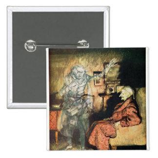 Scrooge y el fantasma de Marley Pin Cuadrado