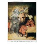 Scrooge y el fantasma de Marley Tarjetas