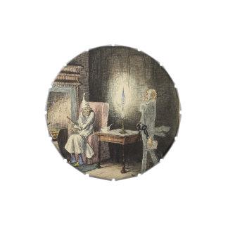 Scrooge y Jacob Marley, villancico del navidad Latas De Dulces