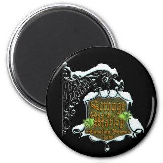 ScroogeHauntedSign 2 Inch Round Magnet