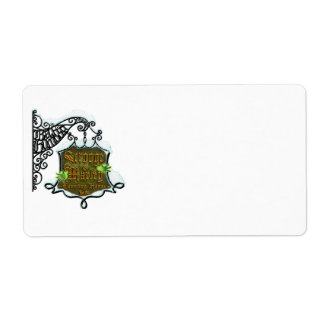 ScroogeHauntedSign Personalized Shipping Label