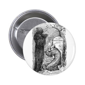 Scrooge's Grave Pinback Buttons