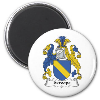 Scroope Family Crest 2 Inch Round Magnet