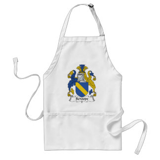 Scroope Family Crest Adult Apron