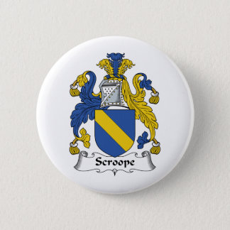 Scroope Family Crest Pinback Button