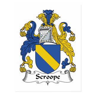 Scroope Family Crest Postcard