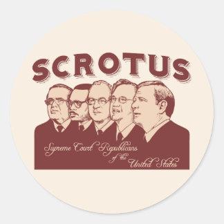 SCROTUS CLASSIC ROUND STICKER