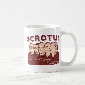 SCROTUS TAZA DE CAFÉ
